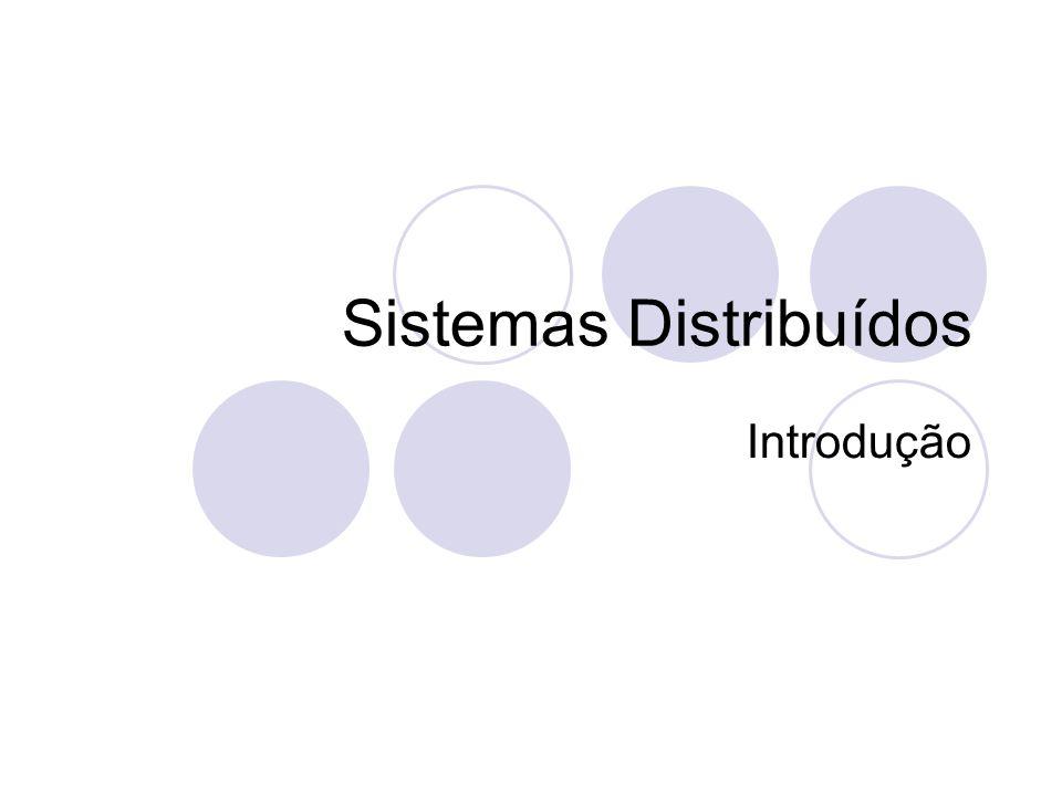 Middleware Oferece suporte a construção de uma aplicação distribuída HW S.O. MW Aplicação