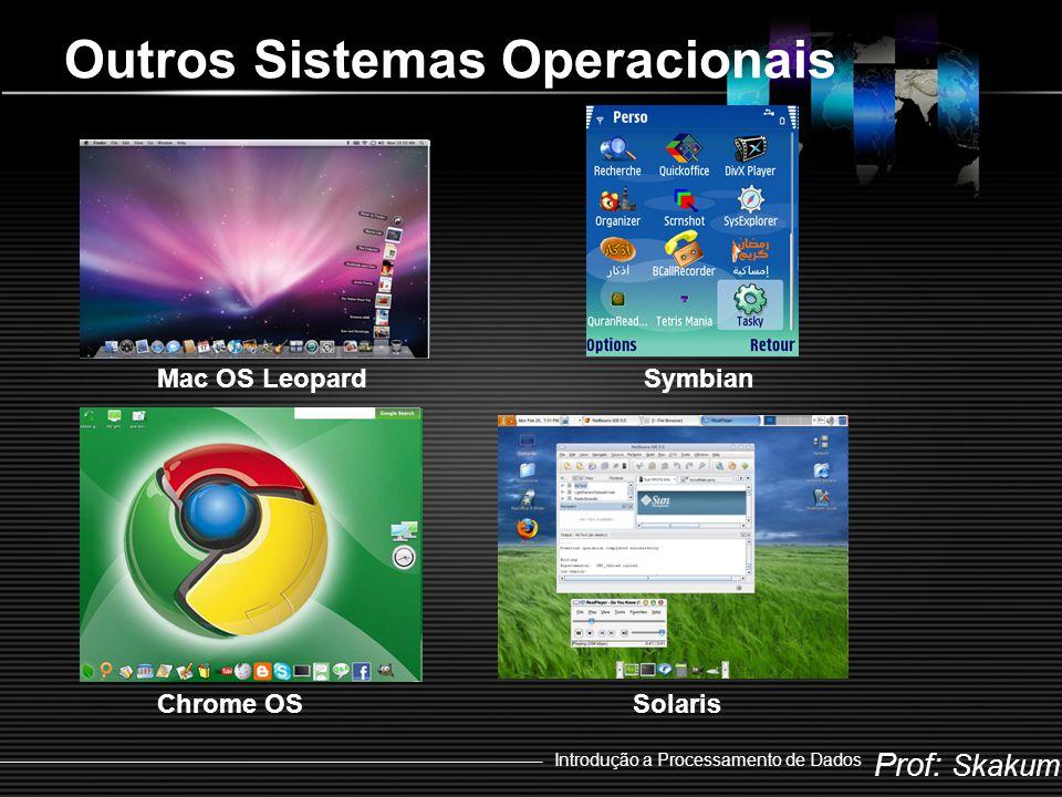 Prof: Skakum Introdução a Processamento de Dados Outros Sistemas Operacionais Mac OS LeopardSymbian Chrome OSSolaris