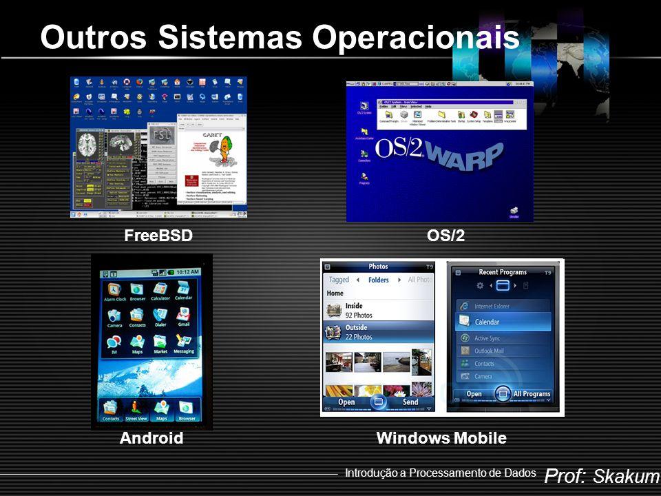 Prof: Skakum Introdução a Processamento de Dados Outros Sistemas Operacionais FreeBSDOS/2 AndroidWindows Mobile