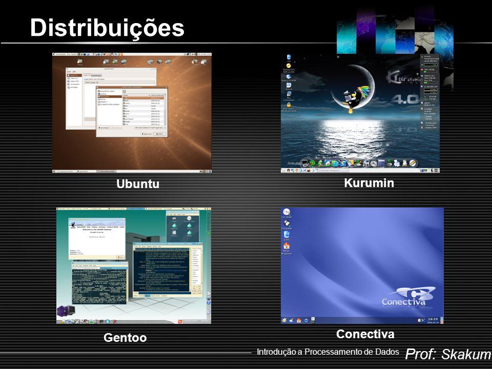 Prof: Skakum Introdução a Processamento de Dados Distribuições Slackware Suse Debian Red Hat