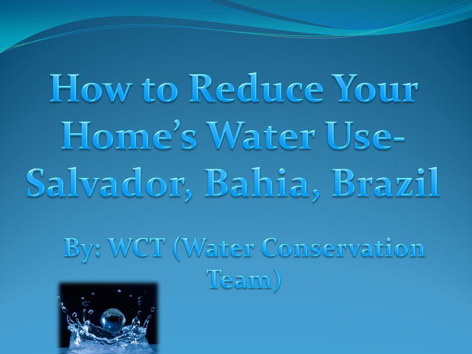 A maioria da água de Salvador (60%.
