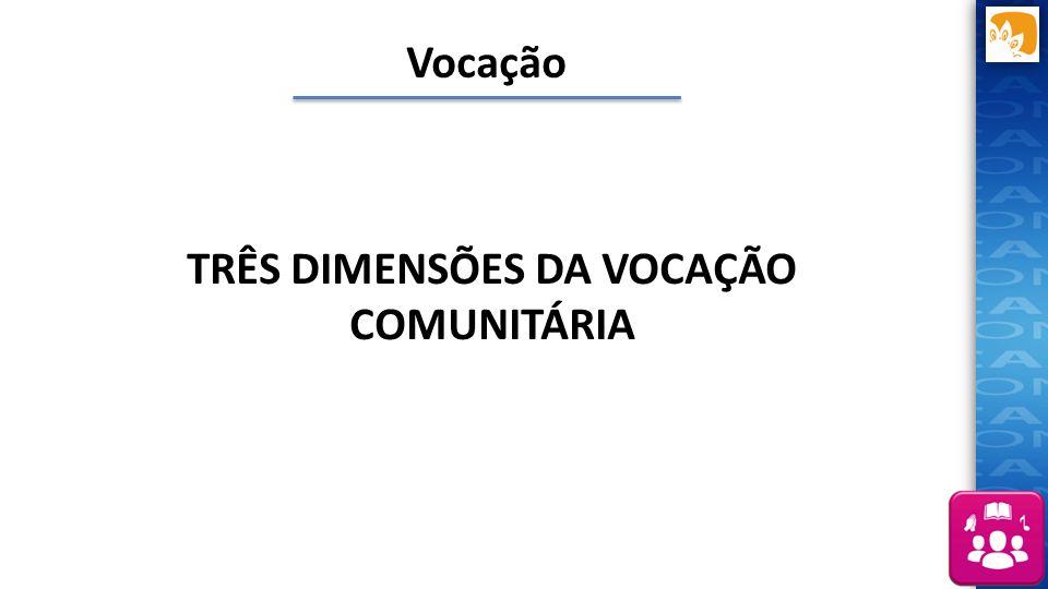 TRÊS DIMENSÕES DA VOCAÇÃO COMUNITÁRIA Vocação