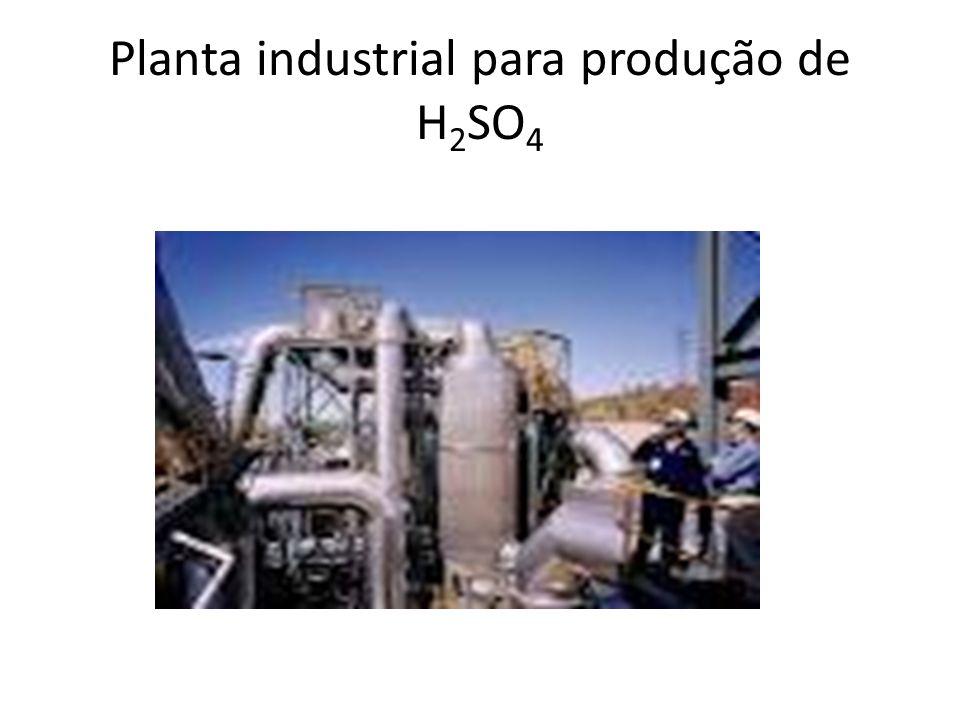 Planta industrial para produção de H 2 SO 4