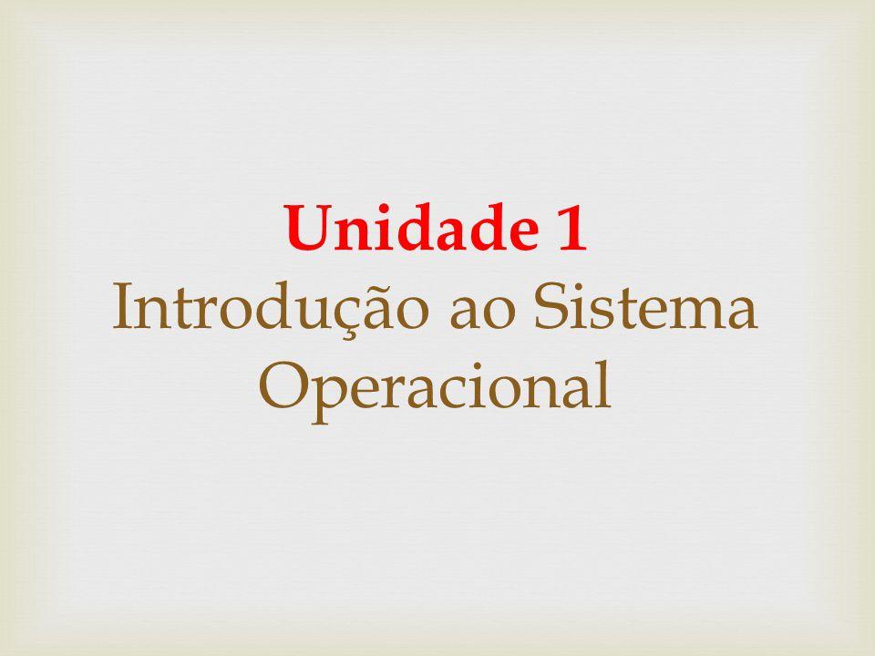 Unidade 1 Introdução ao Sistema Operacional