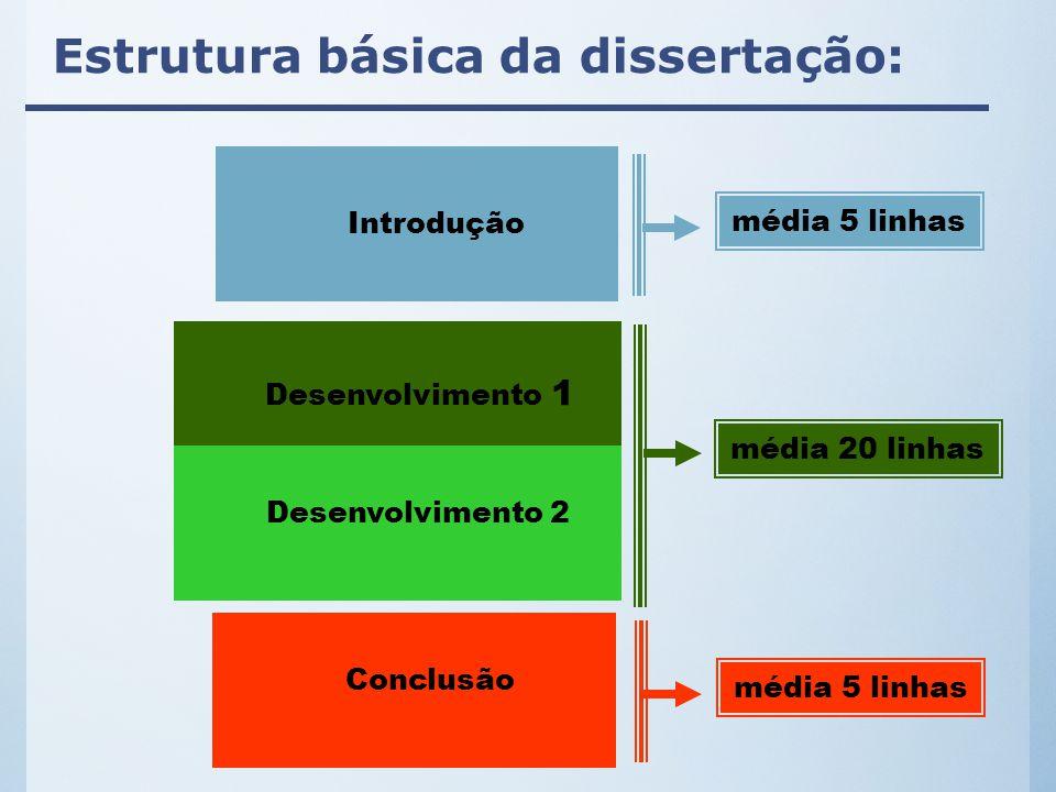 Estrutura do parágrafo Margem do parágrafo Cada parágrafo deve ter, no mínimo dois ou três períodos.