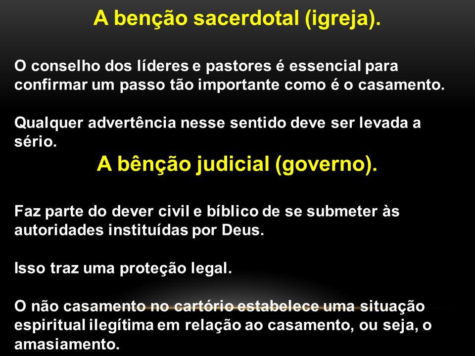 A benção sacerdotal (igreja).