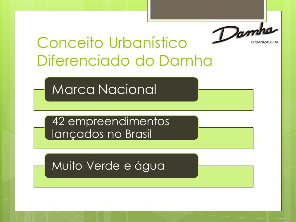Conceito Urbanístico Diferenciado do Damha Marca Nacional 42 empreendimentos lançados no Brasil Muito Verde e água