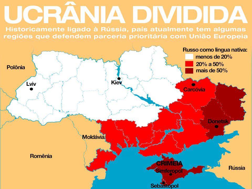 Os Interesses Dos Dois Lados Interesse político russo na região da Ucrânia: A Crimeia foi dominada durante séculos pelo povo nômade dos citas, por gregos, tártaros e turcos, até o momento em que foi povoada pelos russos.