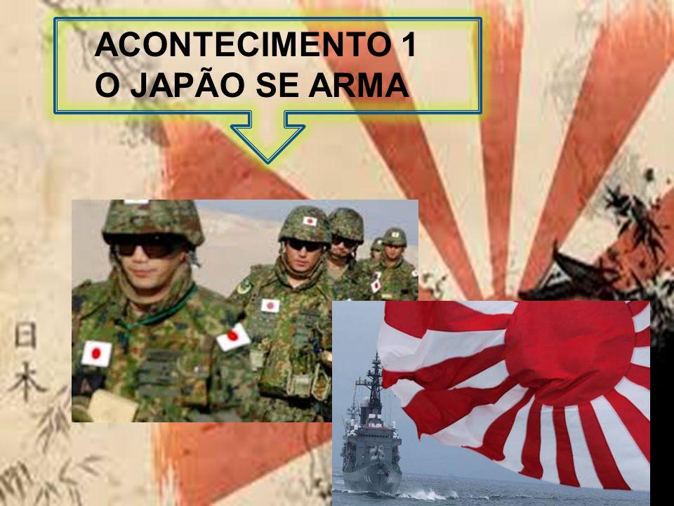 ACONTECIMENTO 1 O JAPÃO SE ARMA