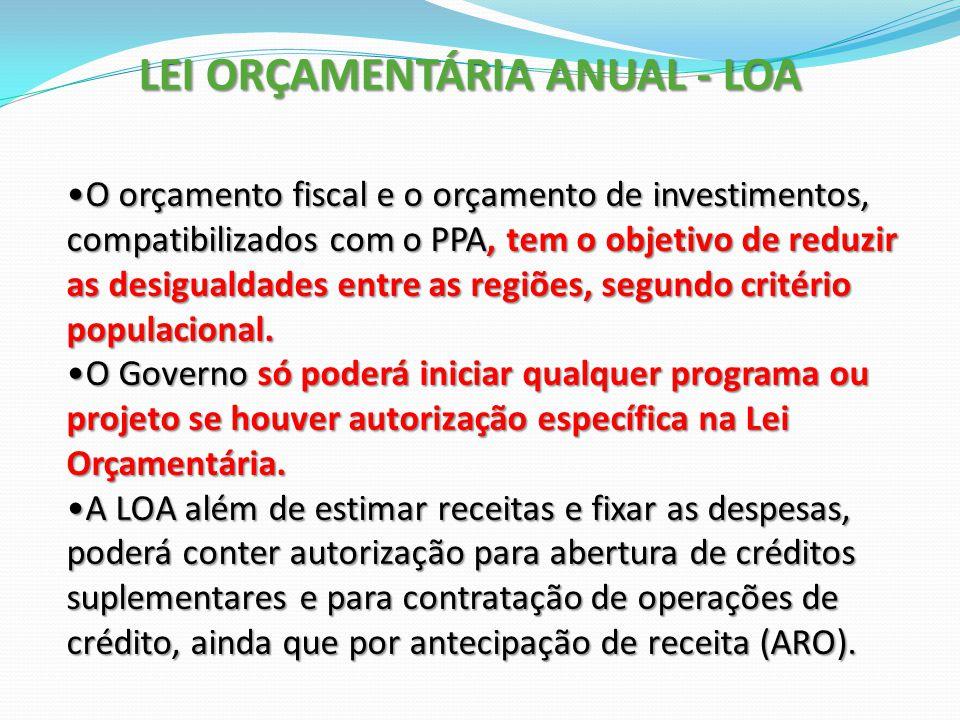 O orçamento fiscal e o orçamento de investimentos, compatibilizados com o PPA, tem o objetivo de reduzir as desigualdades entre as regiões, segundo cr