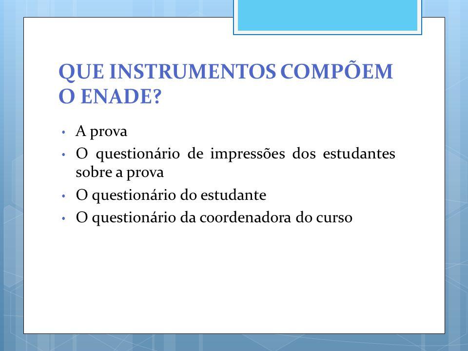 O QUESTIONÁRIO DO ESTUDANTE É DE PARTICIPAÇÃO OBRIGATÓRIA.