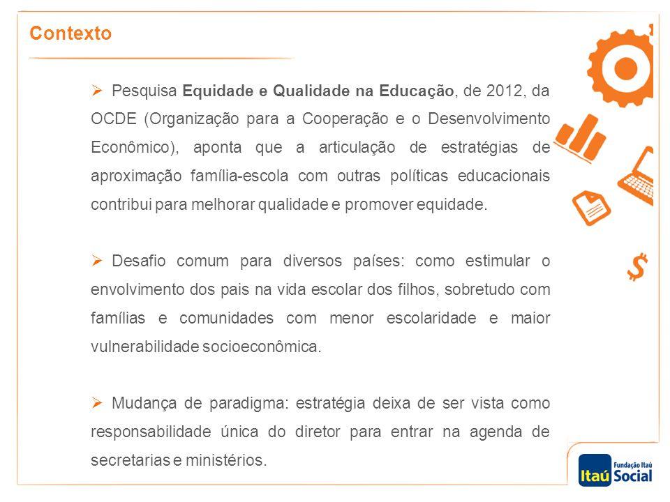 Contexto  Pesquisa Equidade e Qualidade na Educação, de 2012, da OCDE (Organização para a Cooperação e o Desenvolvimento Econômico), aponta que a art