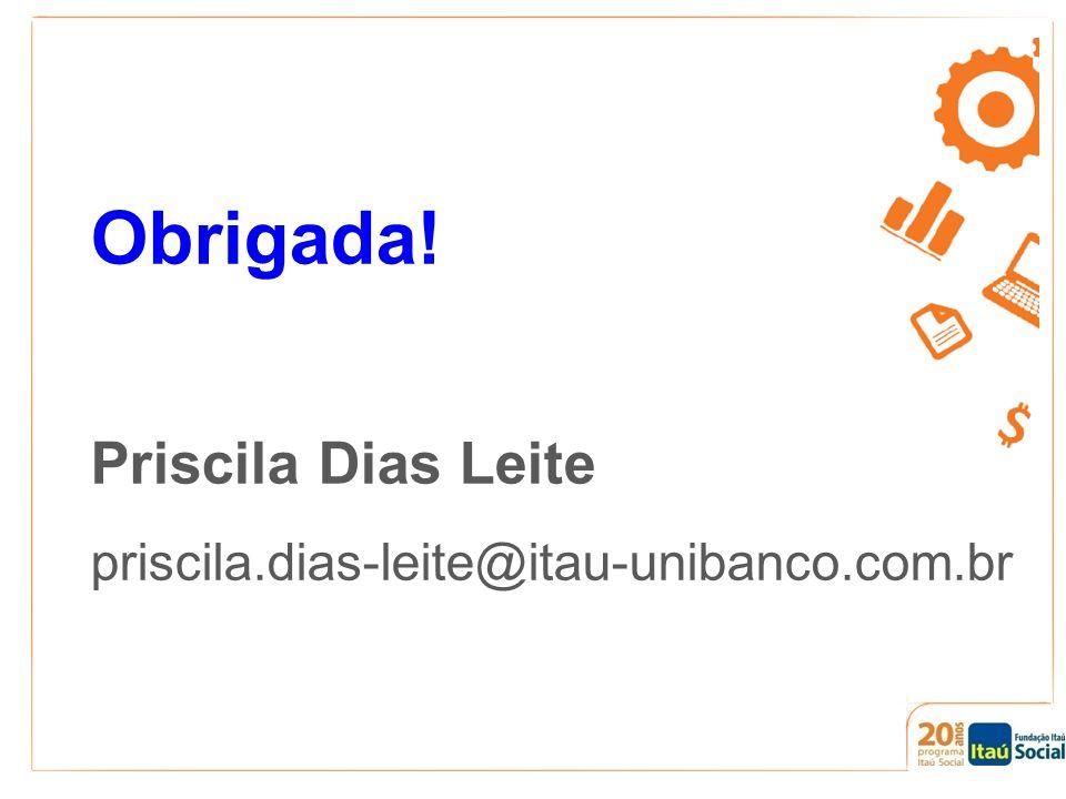 Obrigada! Priscila Dias Leite priscila.dias-leite@itau-unibanco.com.br
