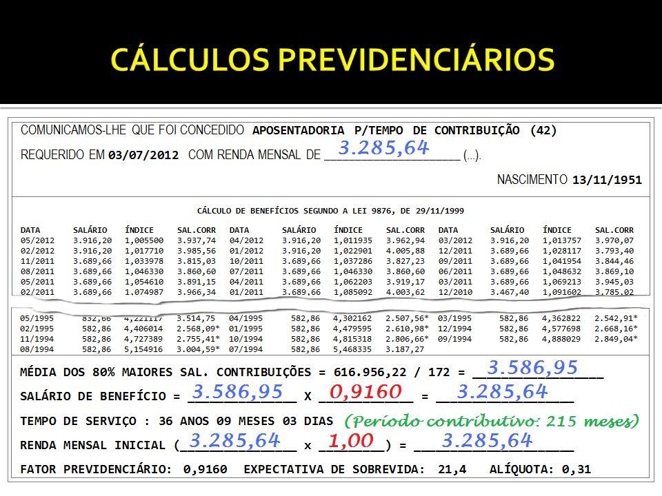 CÁLCULO DOS BENEFÍCIOS PROGRAMÁVEIS – REGRA DE TRANSIÇÃO COM MÍNIMO DIVISOR Lei 9.876, Art.