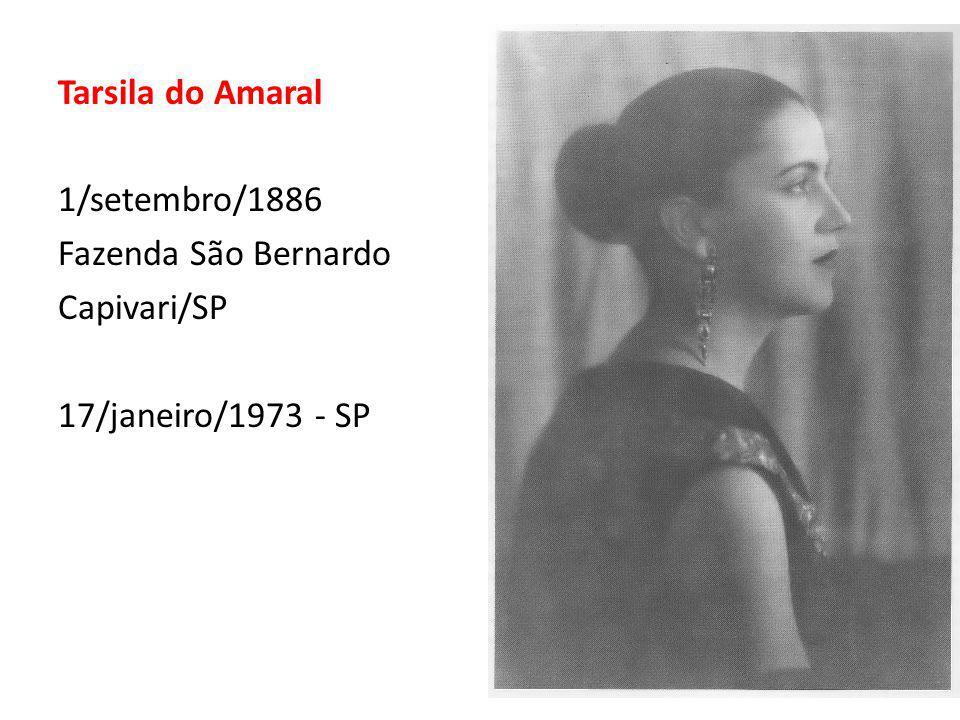 16 Tarsila do Amaral 1/setembro/1886 Fazenda São Bernardo Capivari/SP 17/janeiro/1973 - SP