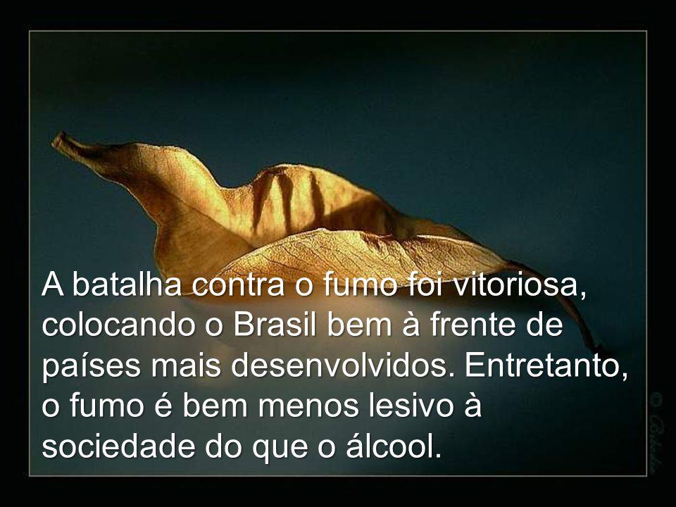 A batalha contra o fumo foi vitoriosa, colocando o Brasil bem à frente de países mais desenvolvidos.