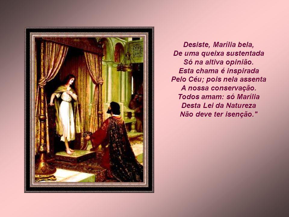 As grandes Deusas do Céu Sentem a seta tirana Da amorosa inclinação. Diana, com ser Diana, Não se abrasa, não suspira Pelo amor de Endimião? Todos ama