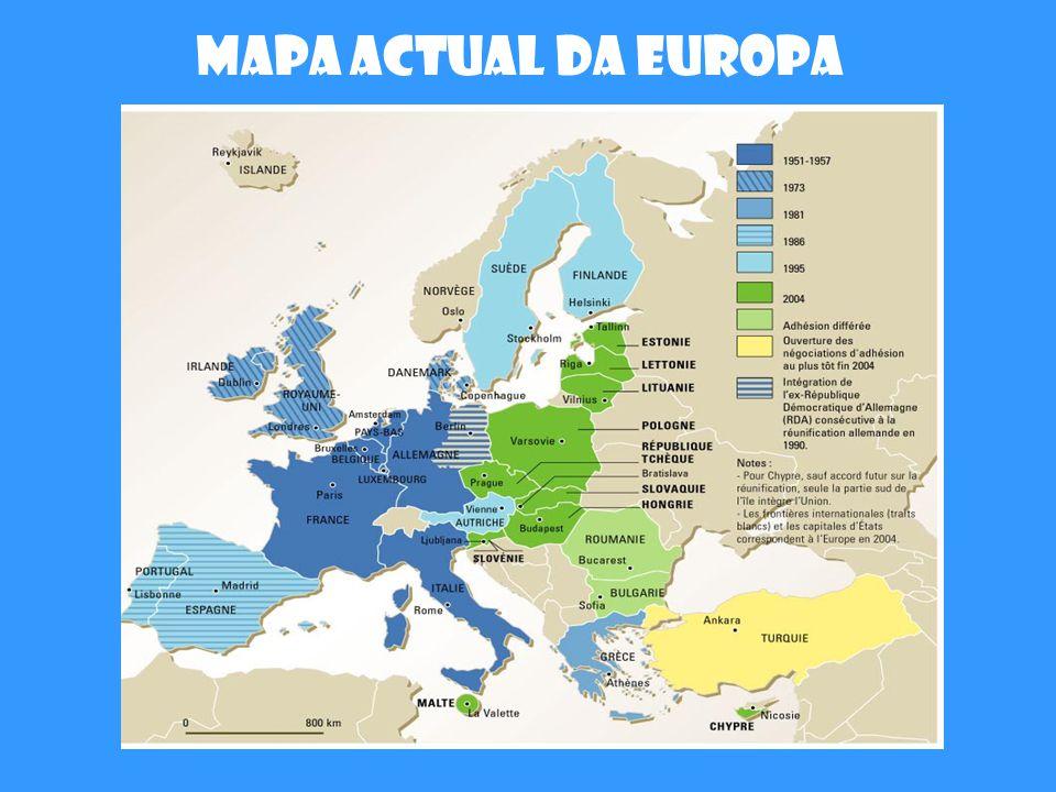 Mapa actual da Europa