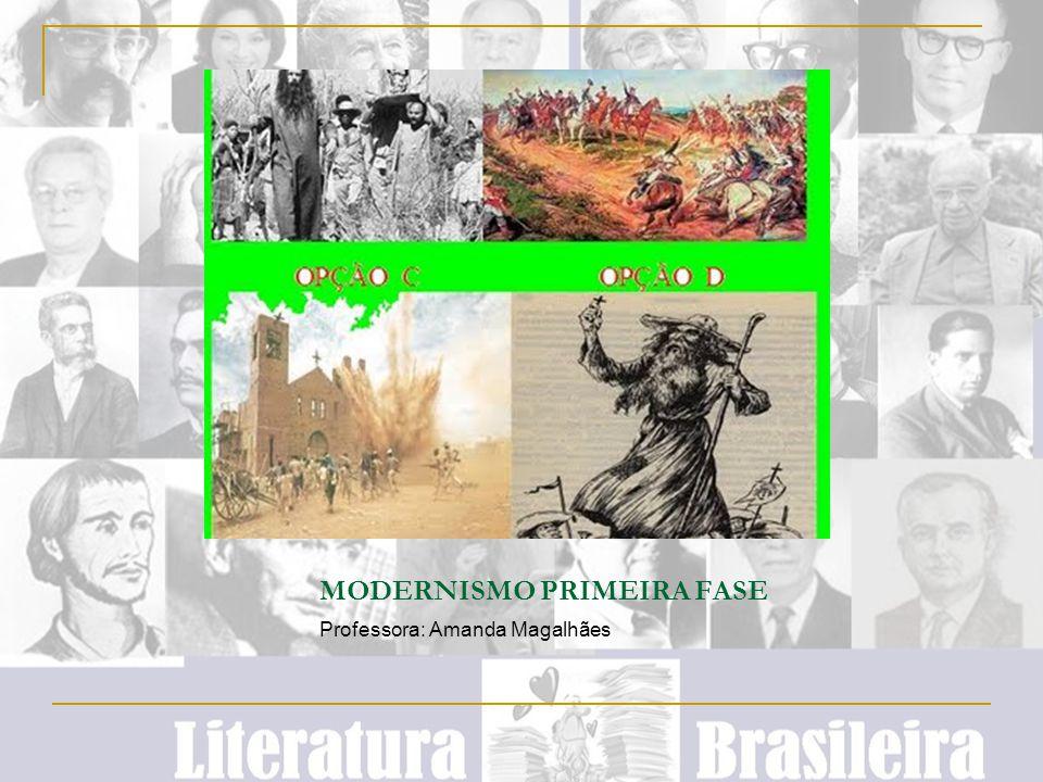 MODERNISMO PRIMEIRA FASE Professora: Amanda Magalhães