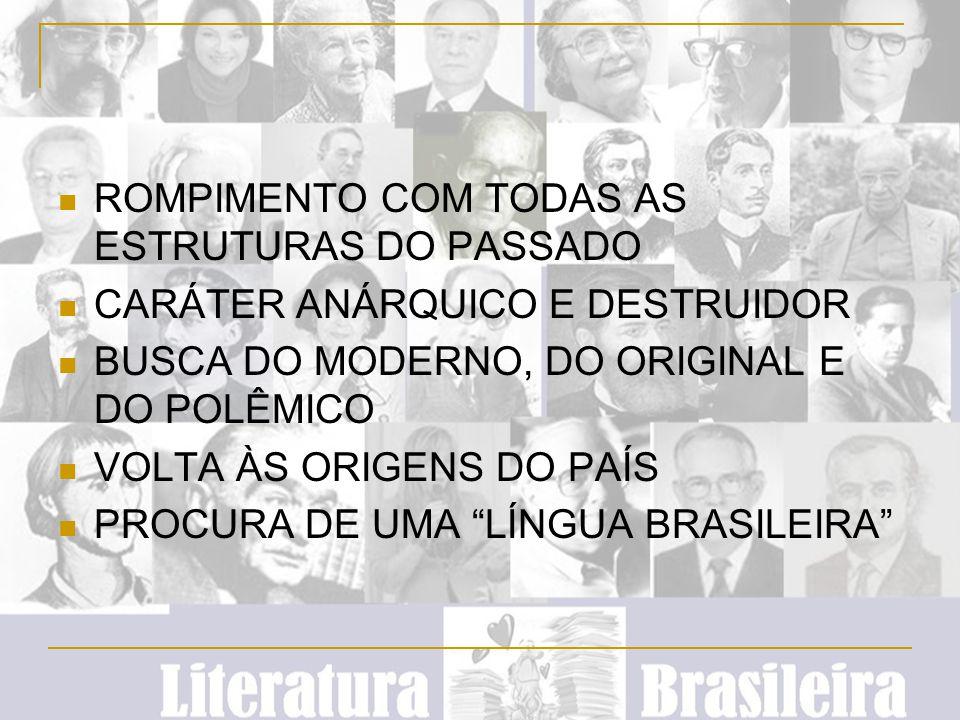 PARÓDIAS, HUMOR VALORIZAÇÃO DO ÍNDIO VERDADEIRAMENTE BRASILEIRO DUAS VERTENTES DO NACIONALISMO: DE UM LADO, O CRÍTICO, LIDERADO POR OSWALD DE ANDRADE; POR OUTRO, UM NACIONALISMO UFANISTA, LIDERADO POR PLÍNIO SALGADO