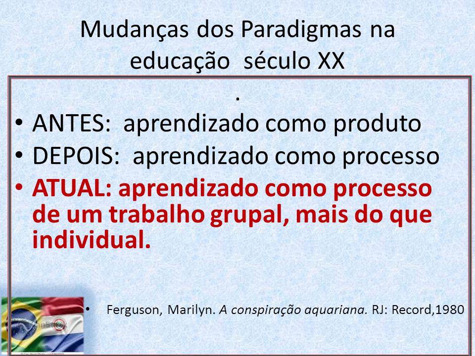 Mudanças dos Paradigmas na educação século XX.