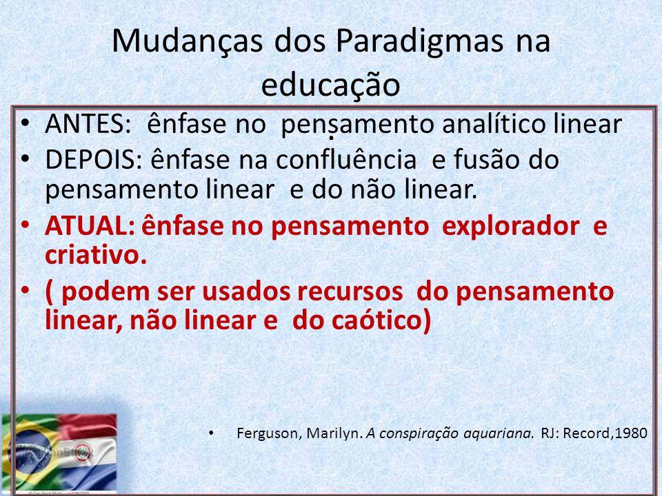 Mudanças dos Paradigmas na educação.