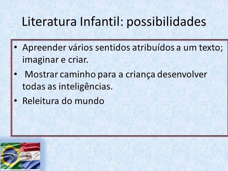 Literatura Infantil: possibilidades Apreender vários sentidos atribuídos a um texto; imaginar e criar.