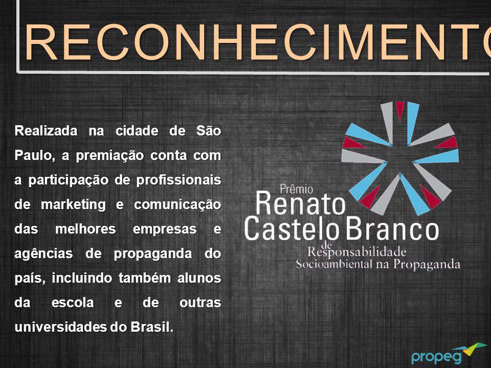 Realizada na cidade de São Paulo, a premiação conta com a participação de profissionais de marketing e comunicação das melhores empresas e agências de