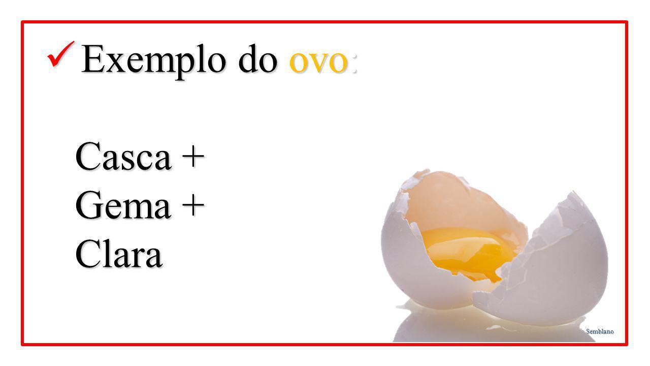 CFM - Teologia da Igreja de Nova Vida - Prof. Martinho Lutero Semblano Exemplo do ovo: Exemplo do ovo: Casca + Casca + Gema + Gema + Clara Clara