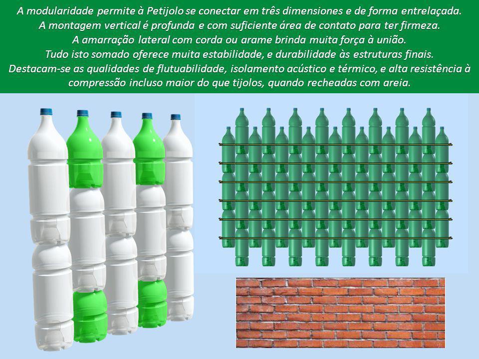 A modularidade permite à Petijolo se conectar em três dimensiones e de forma entrelaçada.