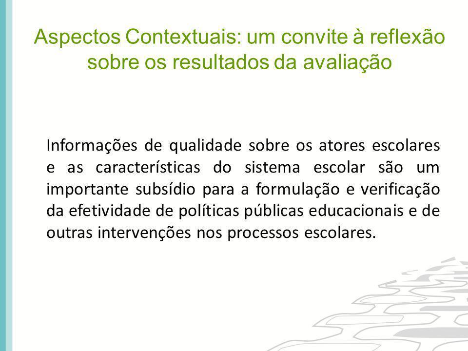Informações de qualidade sobre os atores escolares e as características do sistema escolar são um importante subsídio para a formulação e verificação