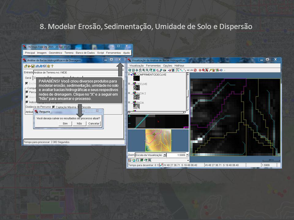 8. Modelar Erosão, Sedimentação, Umidade de Solo e Dispersão PARABÉNS.