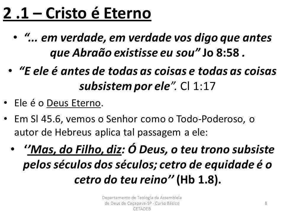 8 – Jesus Como Messias 1.Seria a semente de uma mulher: (Gn 3.15.
