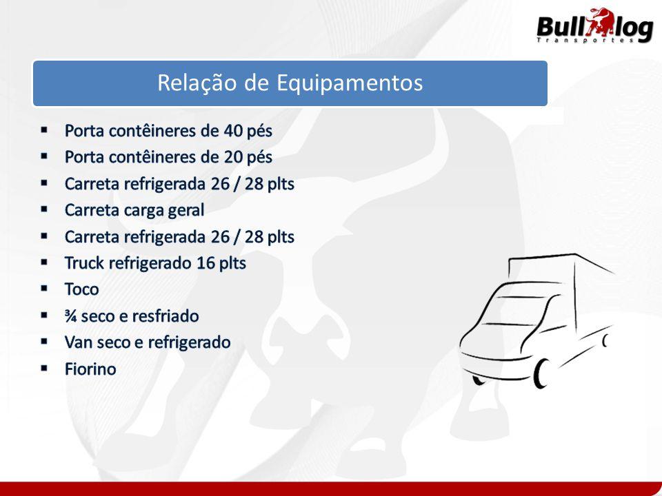 Modais de Transportes Rodoviário Carga geral Carga Refrigerada Remoção DI / DTA Carga Geral Containers Marítimo Contêineres de 20 / 40 pés Carga LCL (Fracionado) Aéreo Doméstico Carga em geral / Perecível