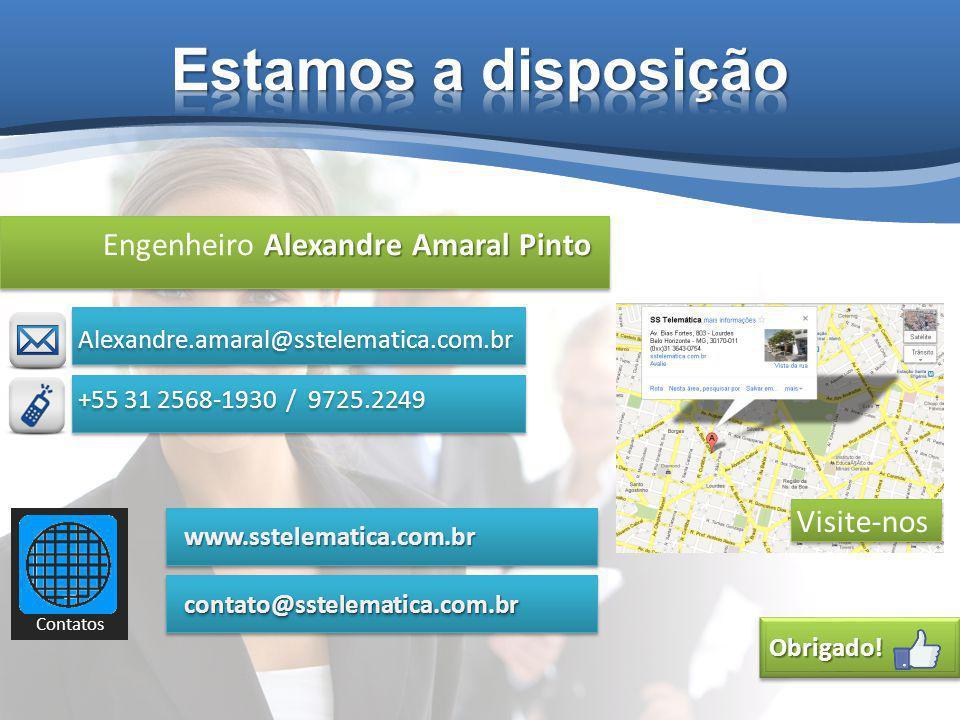 Alexandre Amaral Pinto Engenheiro Alexandre Amaral Pinto Alexandre.amaral@sstelematica.com.br Obrigado!Obrigado.
