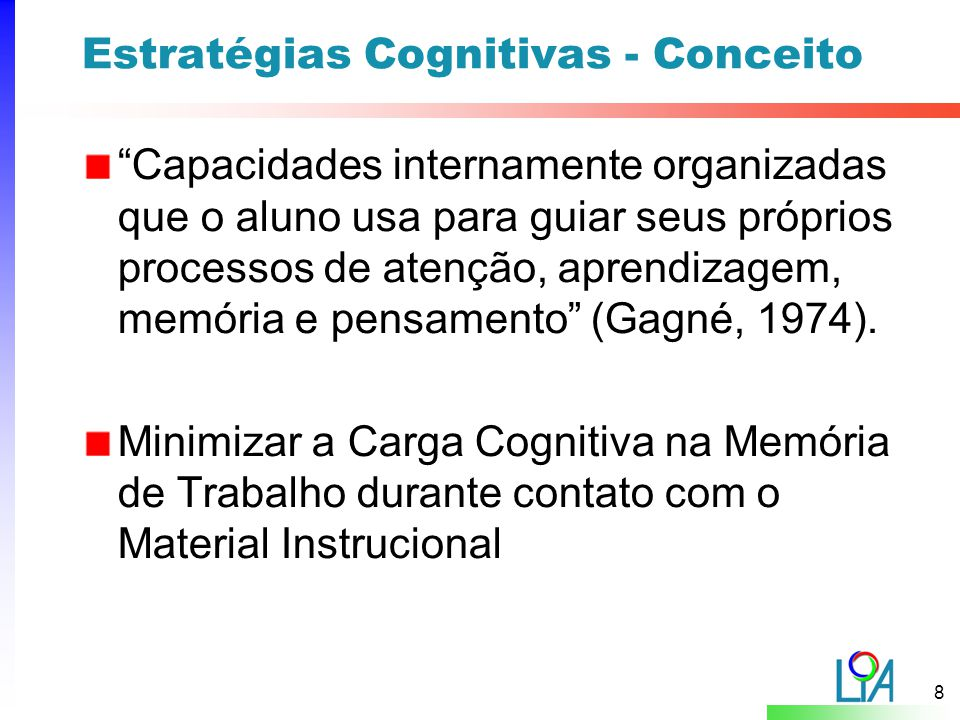 19 Estudos de Caso Hipótese: Estratégias Cognitivas aumentam a usabilidade do material instrucional.