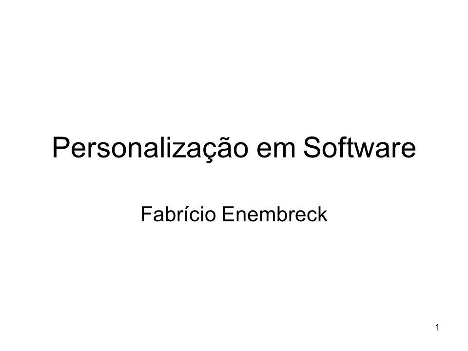 1 Personalização em Software Fabrício Enembreck