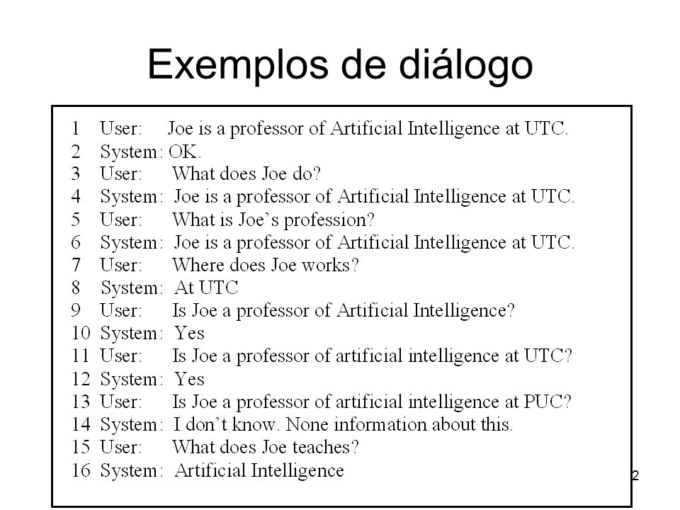 42 Exemplos de diálogo