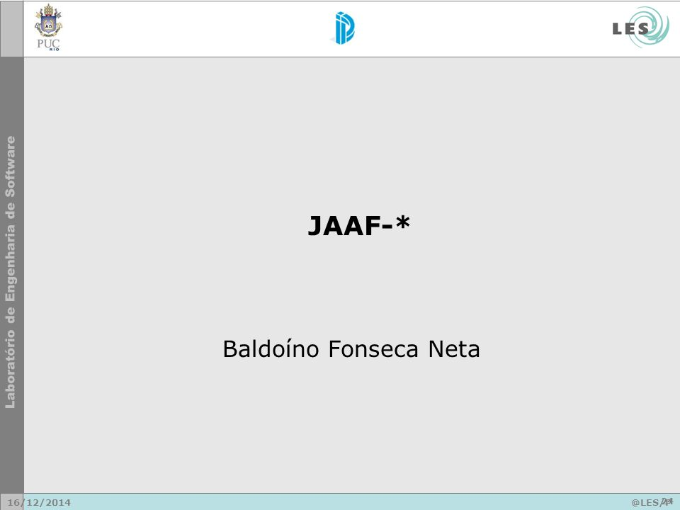Baldoíno Fonseca Neta JAAF-* 16/12/2014@LES/P UC-Rio 24