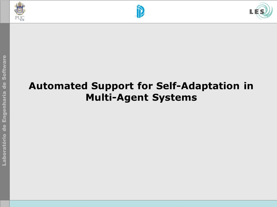 Automated Support for Self-Adaptation in Multi-Agent Systems