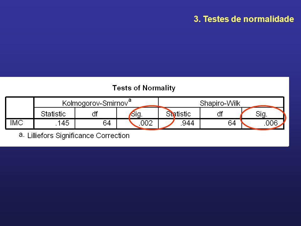 3. Testes de normalidade