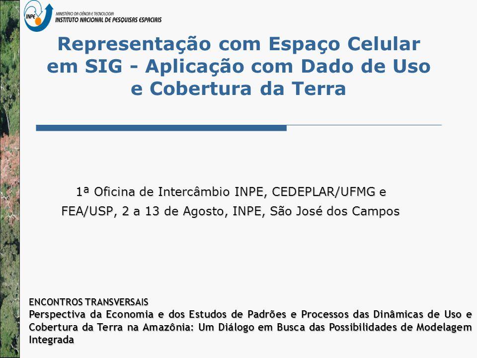 Representação com Espaço Celular em SIG - Aplicação com Dado de Uso e Cobertura da Terra 1ª Oficina de Intercâmbio INPE, CEDEPLAR/UFMG e FEA/USP, 2 a