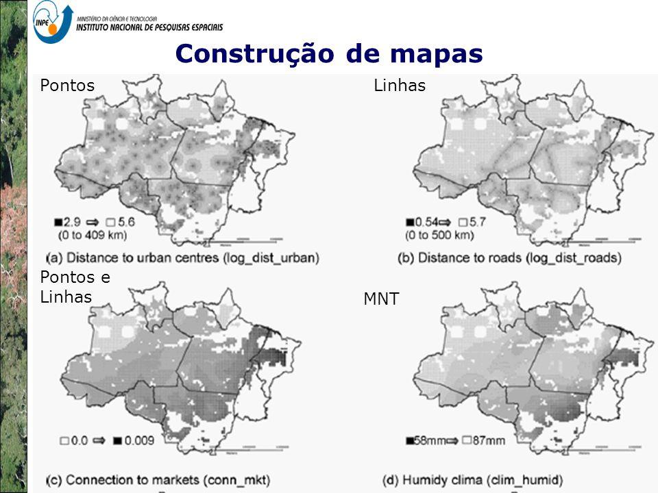 Construção de mapas PontosLinhas MNT Pontos e Linhas