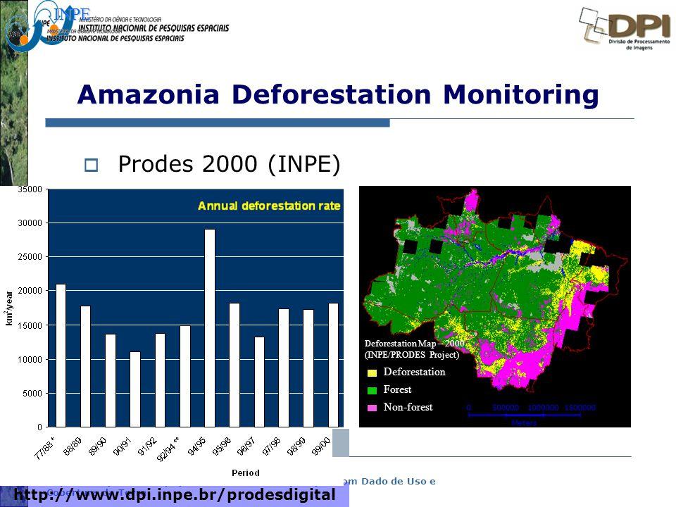 Representação com Espaço Celular em SIG - Aplicação com Dado de Uso e Cobertura da Terra Amazonia Deforestation Monitoring  Prodes 2000 (INPE) http:/