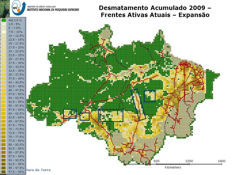 Representação com Espaço Celular em SIG - Aplicação com Dado de Uso e Cobertura da Terra Desmatamento Acumulado 2009 – Frentes Ativas Atuais – Expansã