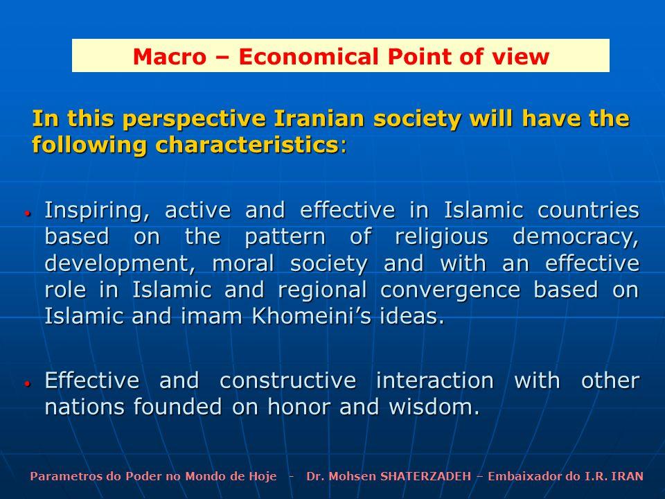 Parametros do Poder no Mondo de Hoje - Dr. Mohsen SHATERZADEH – Embaixador do I.R.