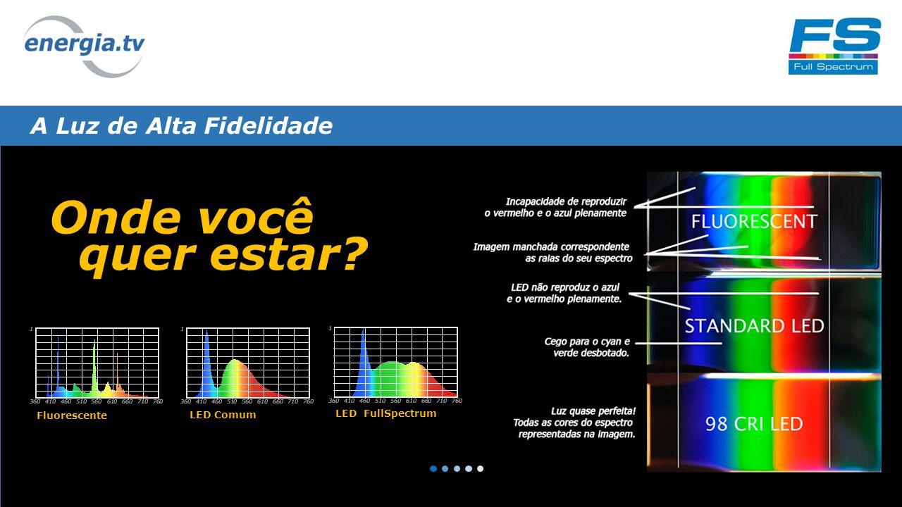 A Luz de Alta Fidelidade Onde você quer estar Fluorescente LED Comum LED FullSpectrum