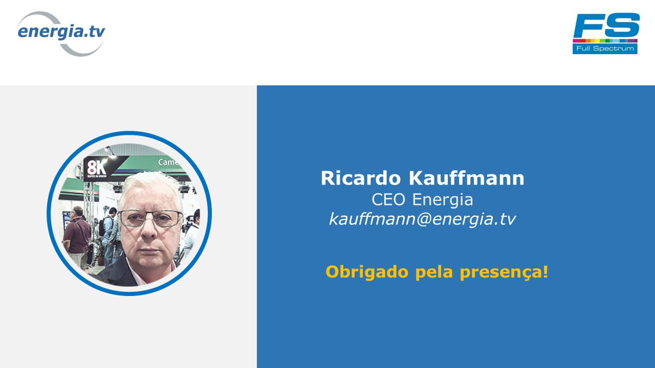 22 Ricardo Kauffmann CEO Energia kauffmann@energia.tv Obrigado pela presença!