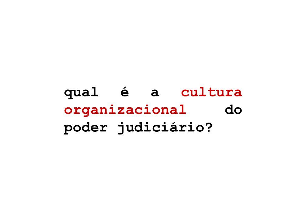 qual é a cultura organizacional do poder judiciário