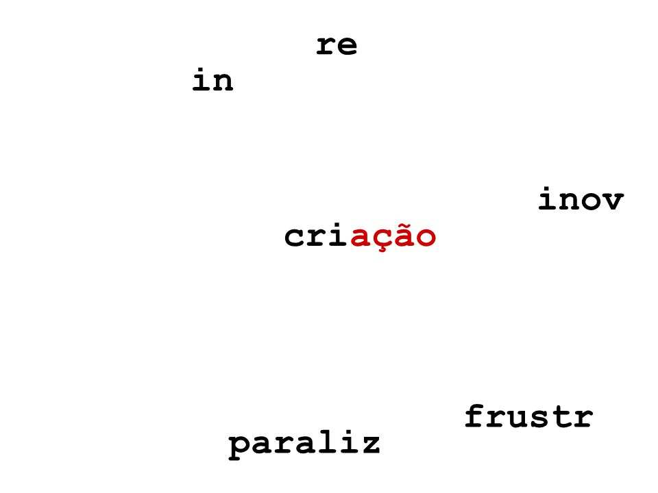 ação inov re in frustr paraliz cri